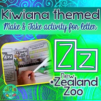 Z = New Zealand Zoo {Kiwiana Themed 'Make & Take' Alphabet Set}