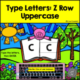 Z Row Uppercase Typing Center - Internet - No Prep BoomCards