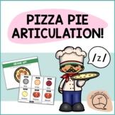 Z SOUND Pizza Articulation Cards for Single & Multisyllabi