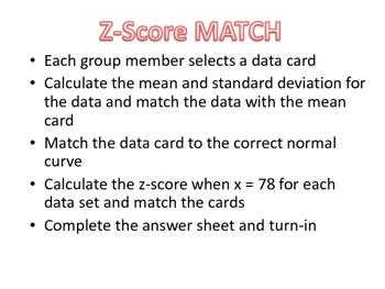 Z-Score Match