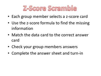 Z-Score Scramble