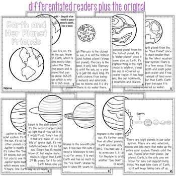 Planets Differentiated Readers Earth and Her Planet Friends