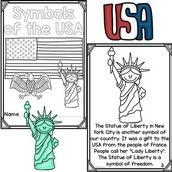 Differentiated American Symbols Printable Readers