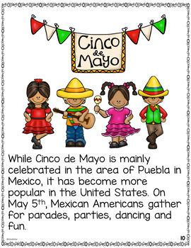 Cinco de Mayo Activities Differentiated Readers with Comprehension Checks
