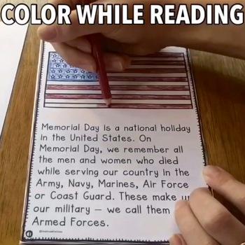 Memorial Day Activities Differentiated Readers