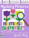 Spring Activities Sight Words Mystery Pictures