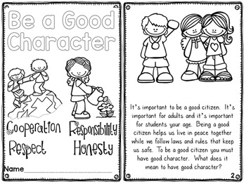 Character Education Printable Readers