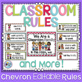 Classroom Theme Decor Classroom Rules with Writing Activities
