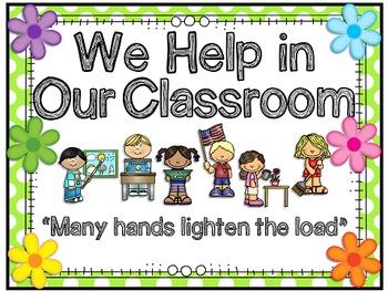 Classroom Jobs Polka Dot