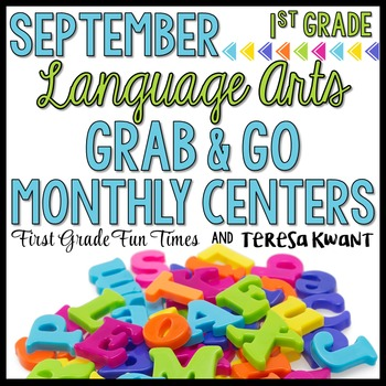 Back to School Activities Literacy Centers First Grade