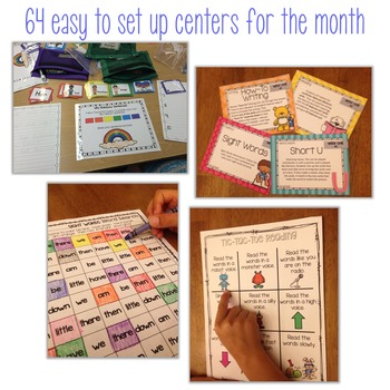Literacy Centers for the Year First Grade