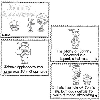 Johnny Appleseed Differentiated Printable Readers