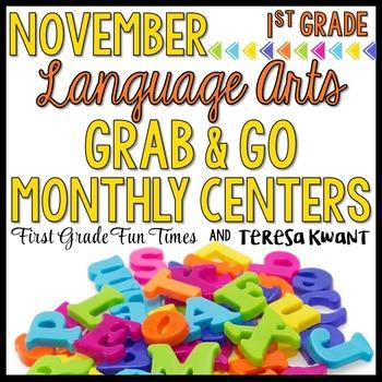 Thanksgiving Literacy Center Activities for November