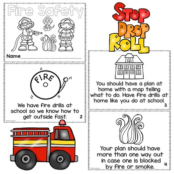 Differentiated Fire Safety Printable Readers
