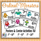 Halloween Math Ordinal Numbers Monster Themed