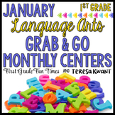 Winter Literacy Centers for January Activities