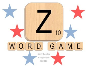 Z Word Game for Articulation Practice