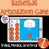 Z Words Initial Medial Final Basketball Articulation Game