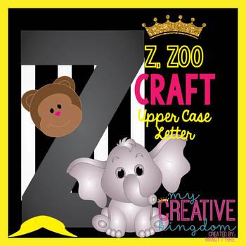 Z - ZOO Upper Case Capital Alphabet Letter Craft