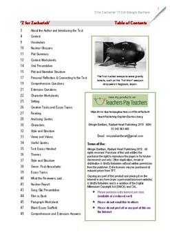 Z for Zachariah - Richard O'Brien Teacher Text Guide & Worksheets