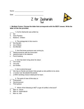 Z for Zachariah Test