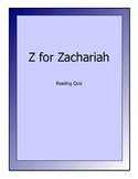 Z for Zachariah novel reading test