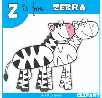 Z is for Zebra Clip Art