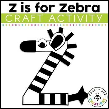 Letter Z (Zebra) Cut and Paste