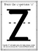 Z is for Zebra.  To Use with My Father's World.  Alphabet Worksheets.