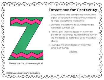 Z is for Zigzag Cut and Paste