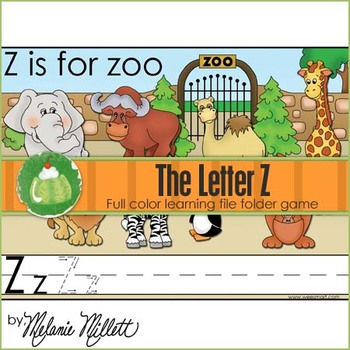 Z is for Zoo File Folder Game