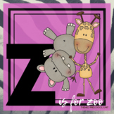 Z is for Zoo Themed Unit-Preschool Lesson Plans  - Distanc