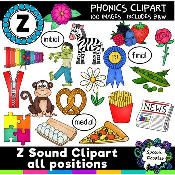 Z sound clipart all positions - 100 images! For Commercial and Personal Use