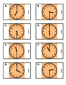 ZABINGA Game Telling Time to the Hour & Half Hour Level 2