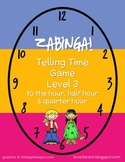 ZABINGA Game Telling Time to the Hour, Half Hour & Quarter