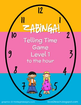 ZABINGA Game Telling Time to the Hour Level 1