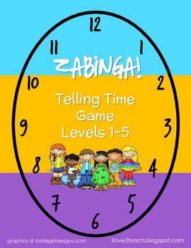 ZABINGA Telling Time Game with 5 Levels