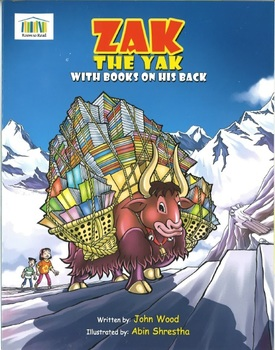 ZAK THE YAK WITH BOOKS ON HIS BACK