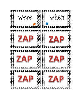 ZAP! A 1st Grade Dolch Words Game