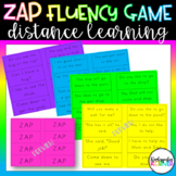ZAP - A Reading Fluency Game for Distance Learning / Home Learning Kindergarten