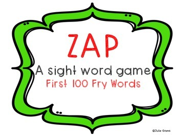 ZAP A Sight Word Game