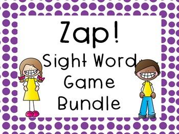 Sight Word Game Bundle - Zap!