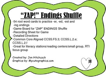 """ZAP!"" Endings Game"