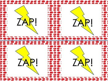 Sight Word Game - ZAP! Sight Word List 3