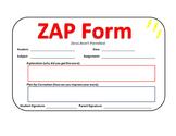 ZAP Form   Zeros Aren't Permitted   Homework Guide