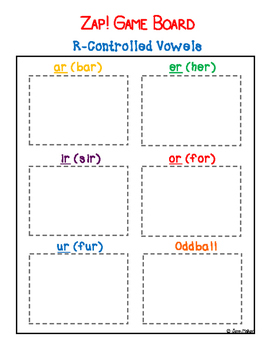 ZAP! Game: R-Controlled Vowels