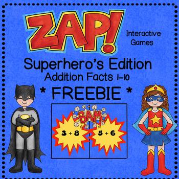 ZAP Math Facts - Sample Game