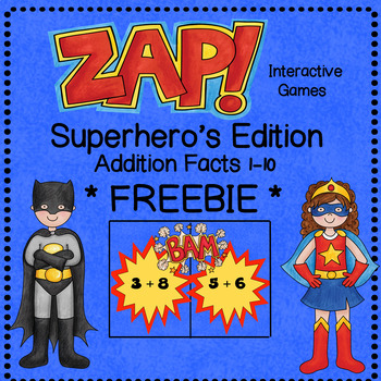 ZAP - Addition Facts Sample Game