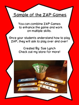 !ZAP! Math Reinforcement Game Subtracting within 10 Subtraction 1.OA.4 & 1.OA.6