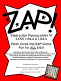 !ZAP! Math Reinforcement Game Subtracting within 10 Subtra